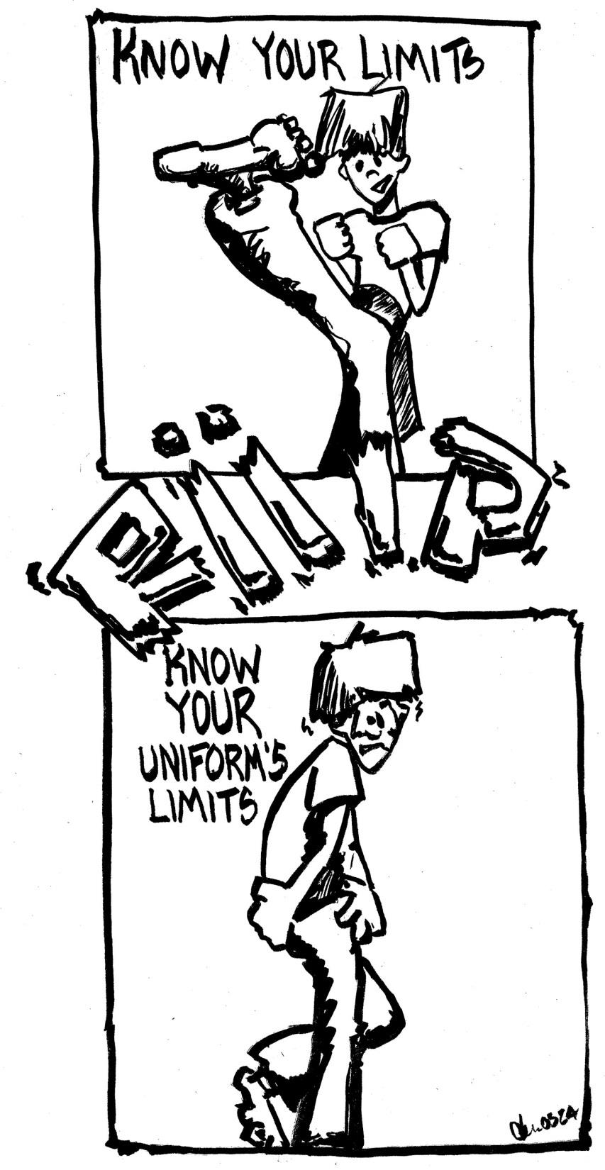 Know Your Limits Kung Fu Cartoon