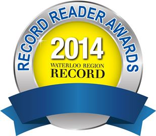 #1 Winner for favourite local Martial Arts studio! Waterloo Region Record's 2014 Reader Awards