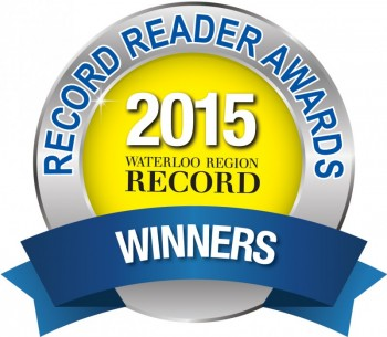 #1 Winner for favourite local Martial Arts studio! Waterloo Region Record's 2015 Reader Awards