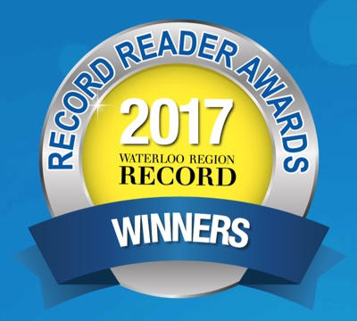 #1 Winner for favourite local Martial Arts studio! Waterloo Region Record's 2017 Reader Awards
